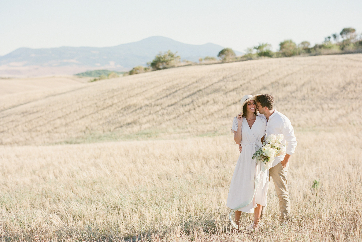 Romantica fuga d'amore in Val D'Orcia