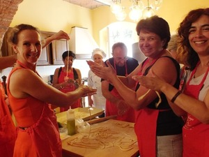 Cooking class privata in villa in Toscana
